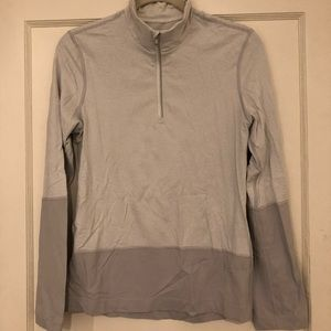 Lululemon Quarter Zip - White and Grey